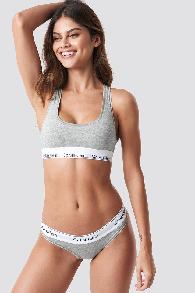 Grey Heather Bikini Modern Cotton