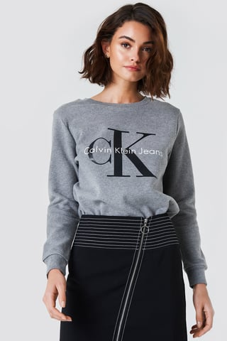 Light Grey Heather Crew Neck True Icon Sweatshirt