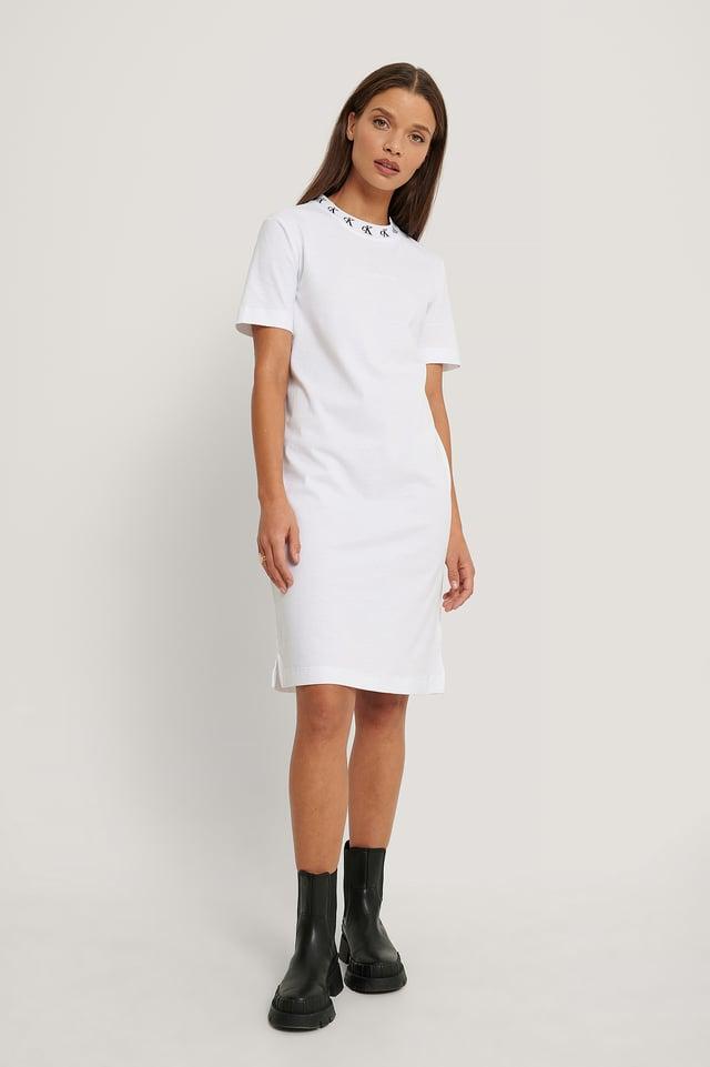 Mini Robe À Logo Bright White