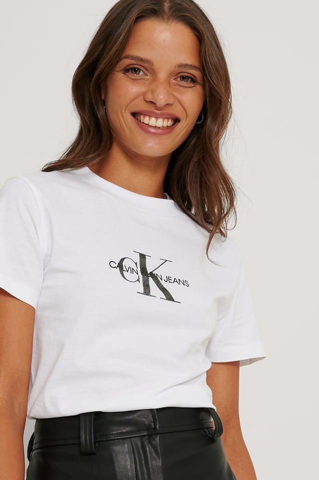 Tee-Shirt À Logo Monogramme Bright White