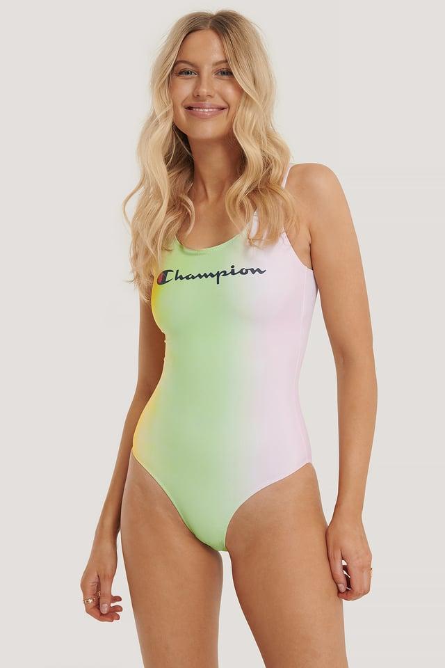 Lime Light Logo Swimming Suit