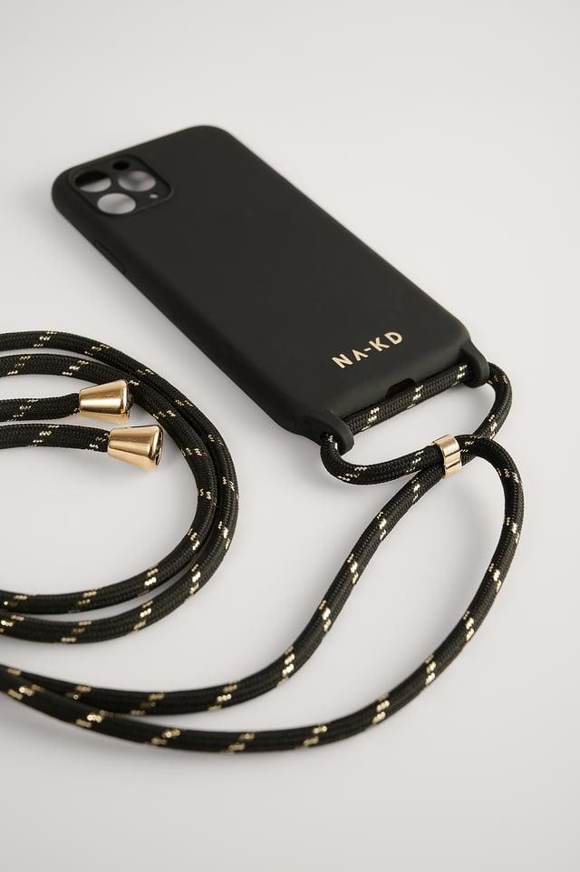 Black Cord Strap Phone Case