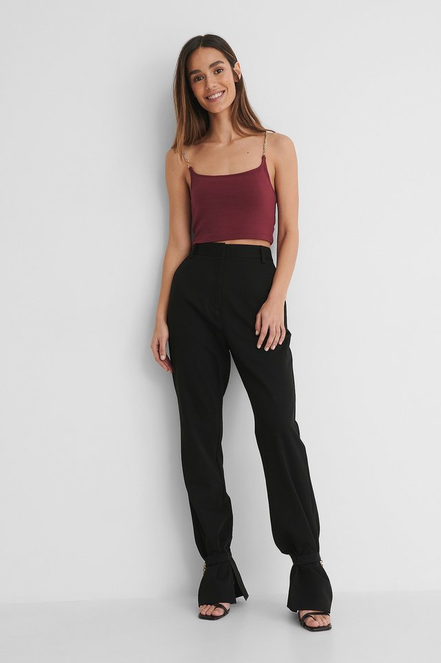 Pantalon De Costume Black