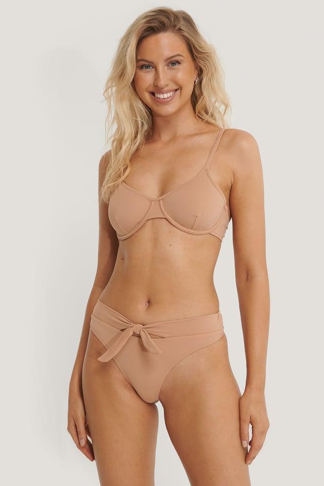 Bas De Bikini Noué Brown