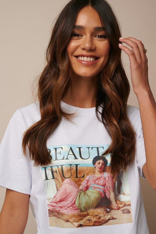 Beautiful Printed T-shirt White