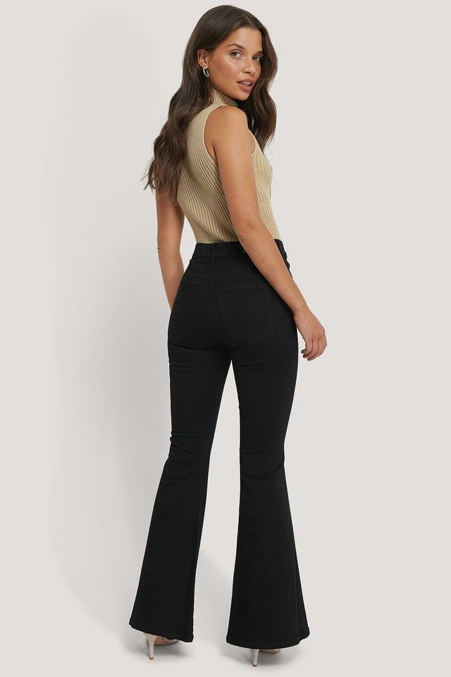 Macy Flared Jeans Black