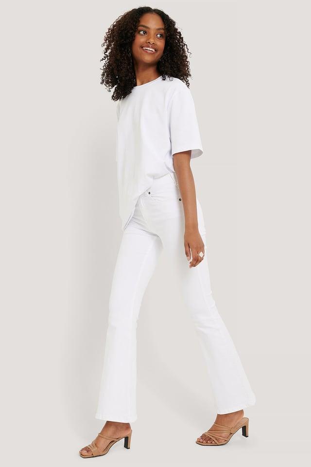 Macy Flared Jeans White