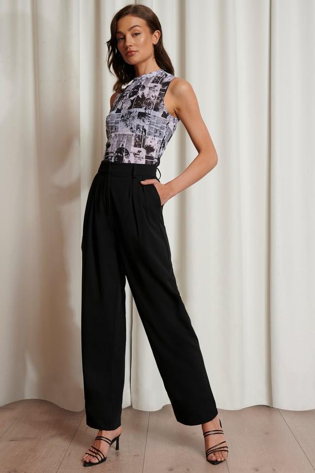 Pantalon De Costume Surdimensionné Black