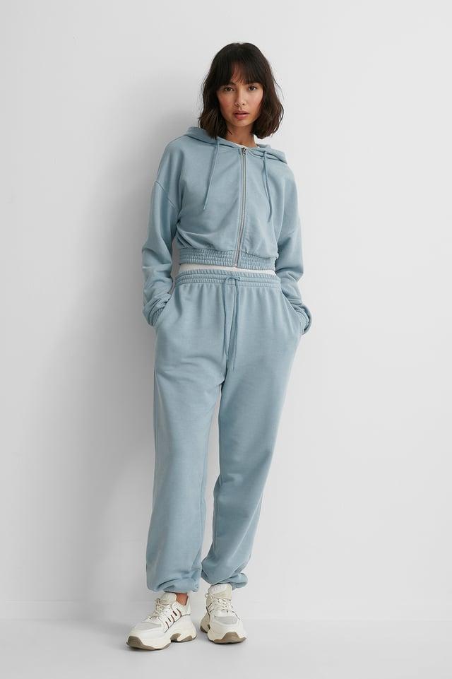 Biologique Pantalon De Survêtement Dusty Blue