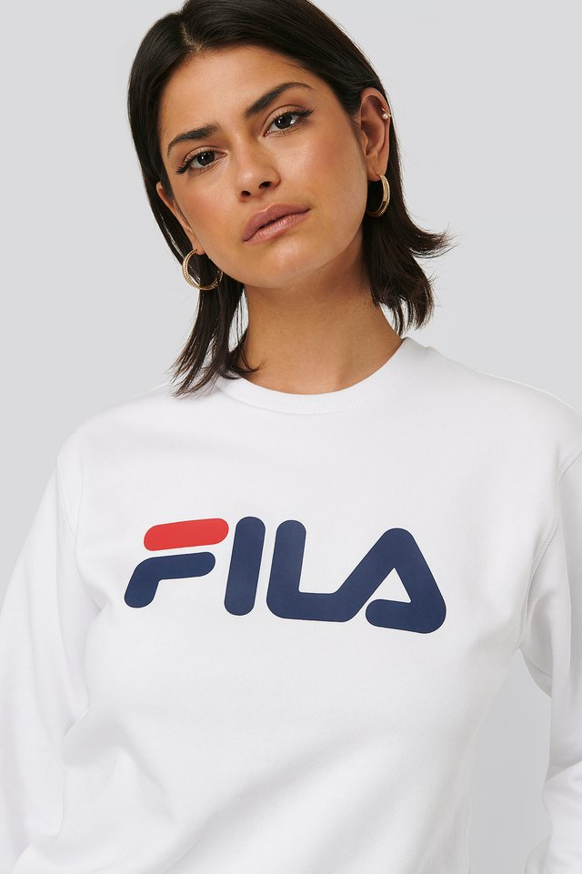 Bright White Classic Pure Crew Sweat