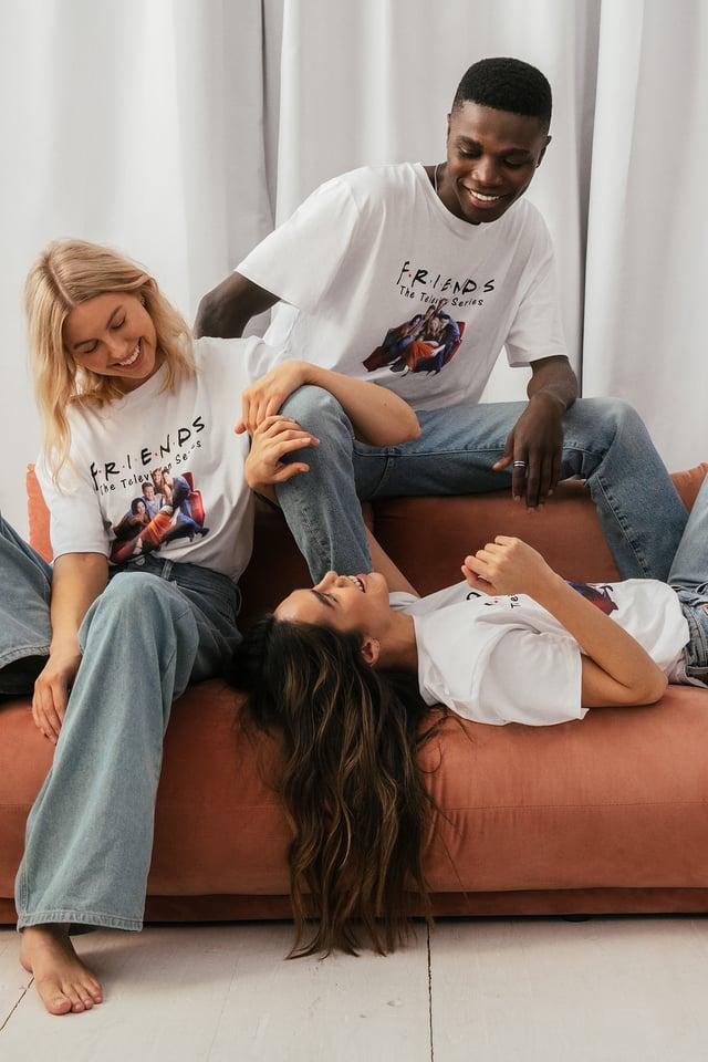 White Print All Season Biologique Tee-shirt À Motifs