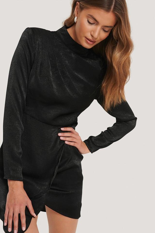 Mini Robe Asymétrique Black