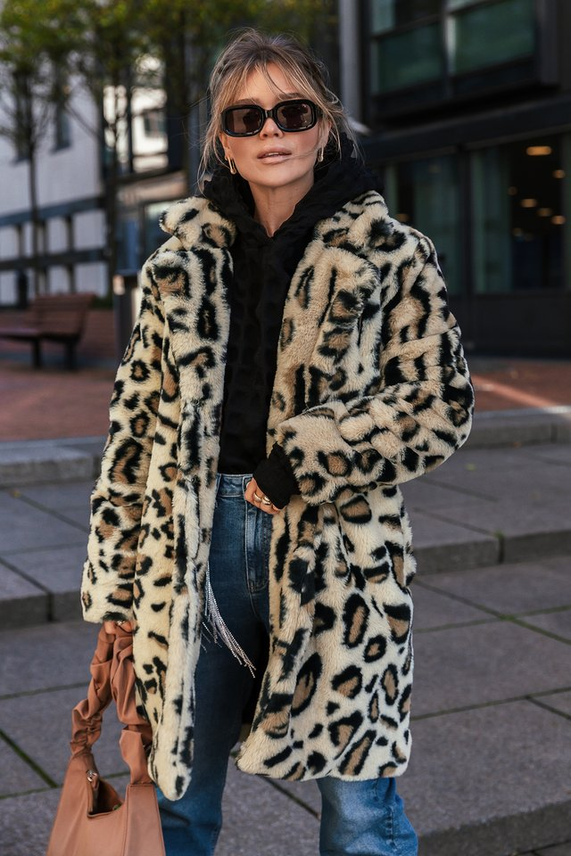 Manteau Fausse Fourrure Leopard