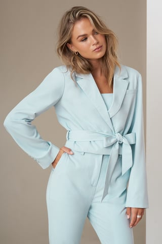 Light Blue Blazer Court