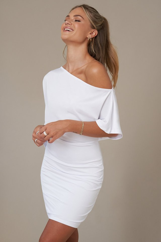 Mini Robe Une Épaule White