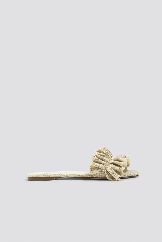 Frill Slippers Nature
