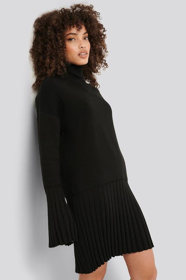 Robe Tricot Black
