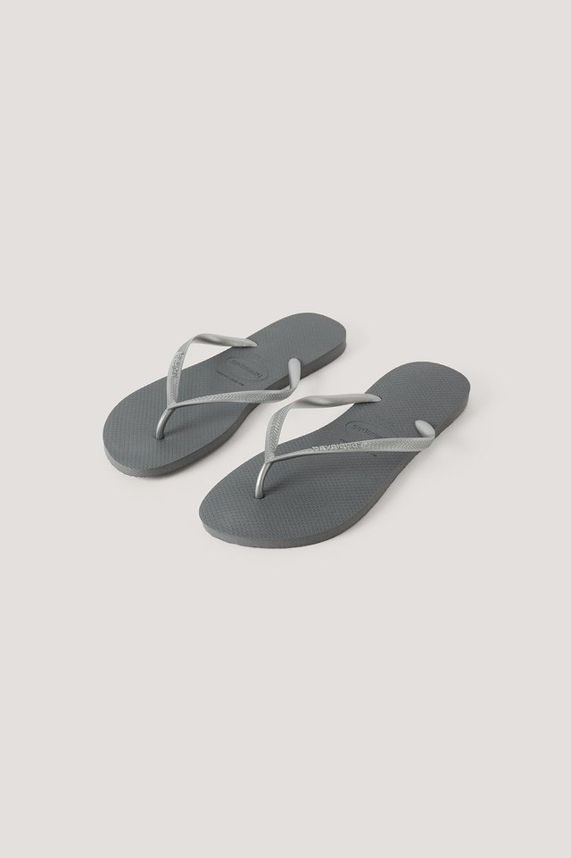 Steel Grey Havaianas Slim Flip Flop