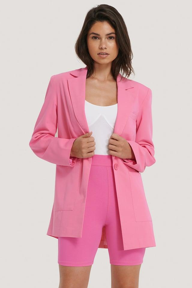 Pink Collant De Motard
