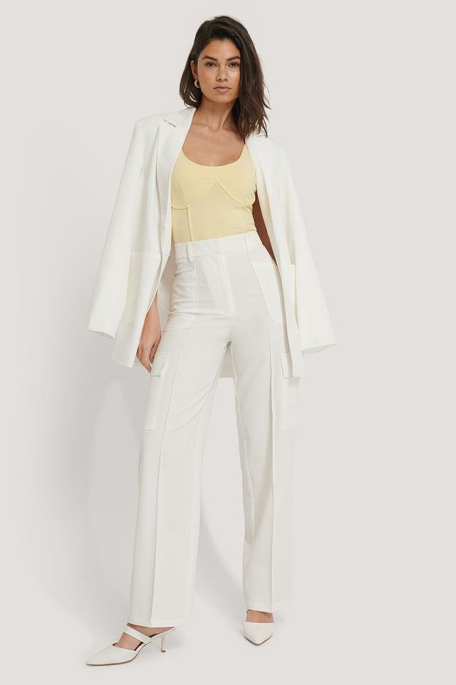 Pantalons Cargo White