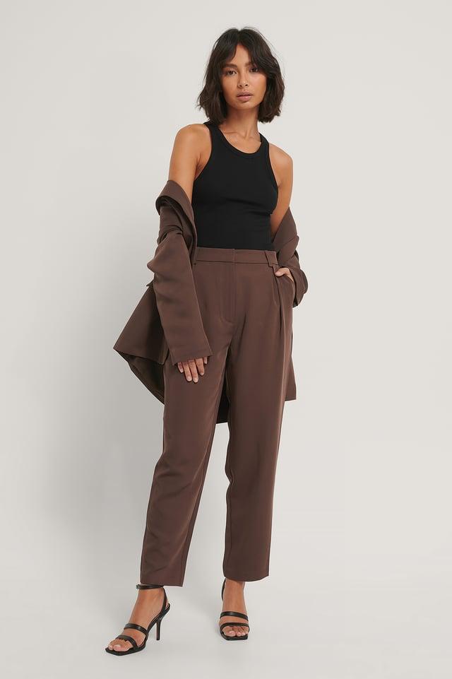 Pantalon De Costume Brown