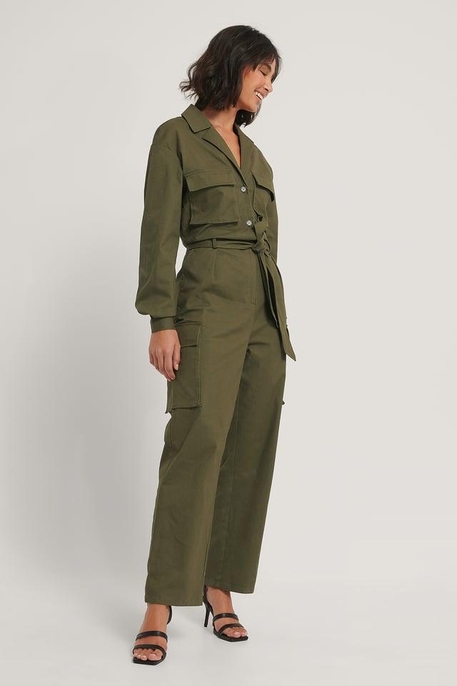 Combinaison Pantalon Utilitaire Khaki Green