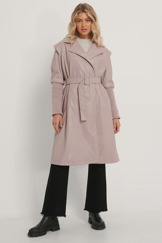 Old Pink Manteau En Faux Cuir