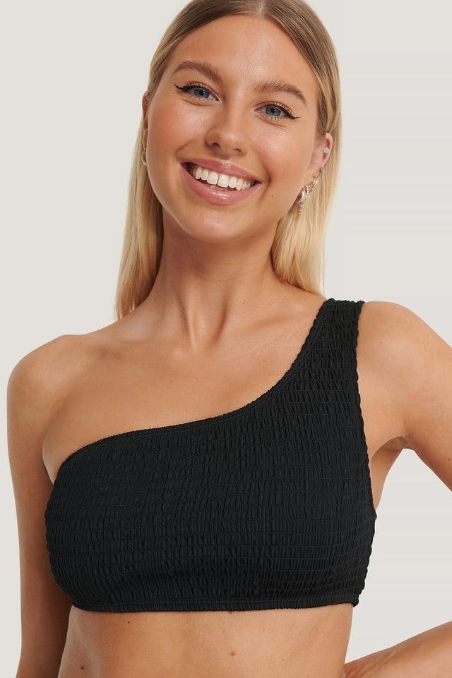 Black Haut De Bikini Une Épaule