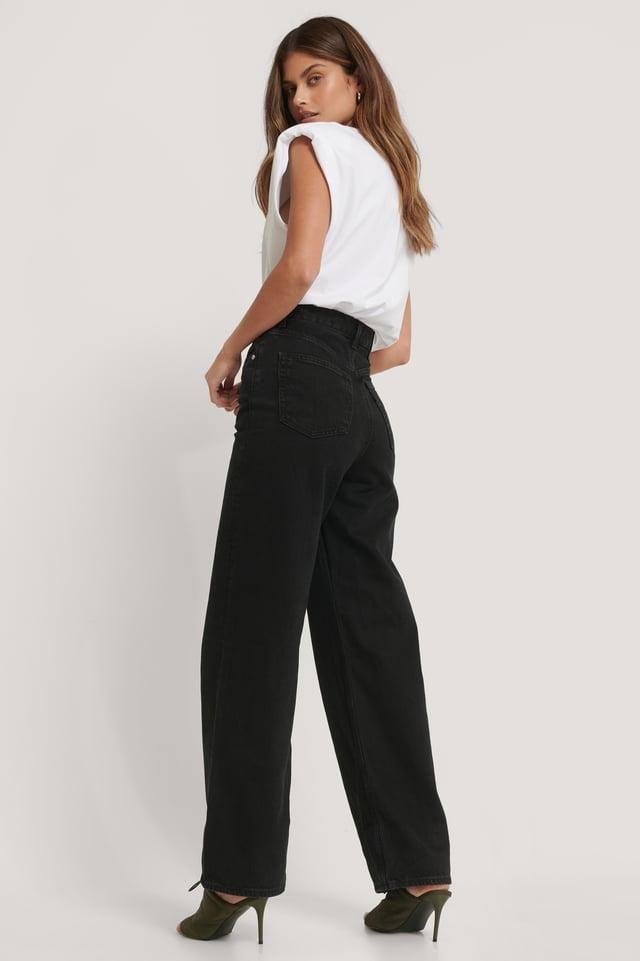 Jean Ample Taille Haute Black