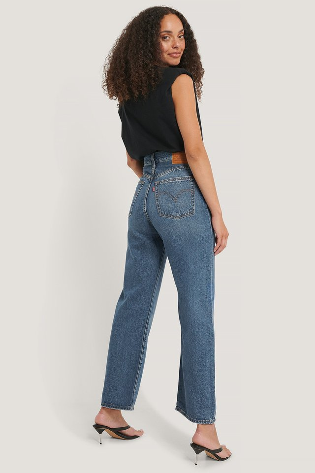 At The Ready Pantalon Droit Taille Haute Longueur Cheville