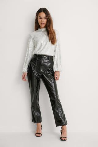 Black Pantalon Ciré