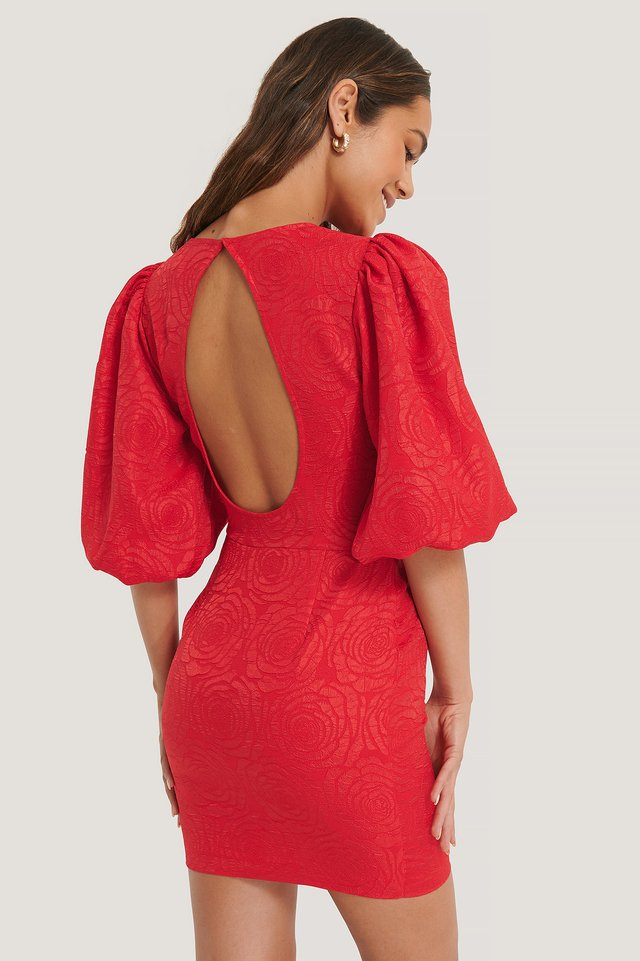 Robe Dos Ouvert Red