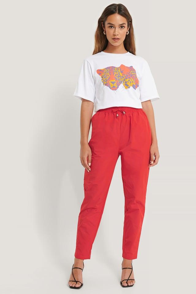 Red Pantalon De Survêtement