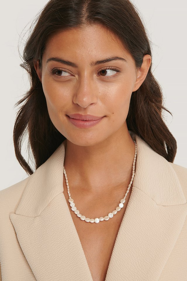 Collier De Perles White Pearl