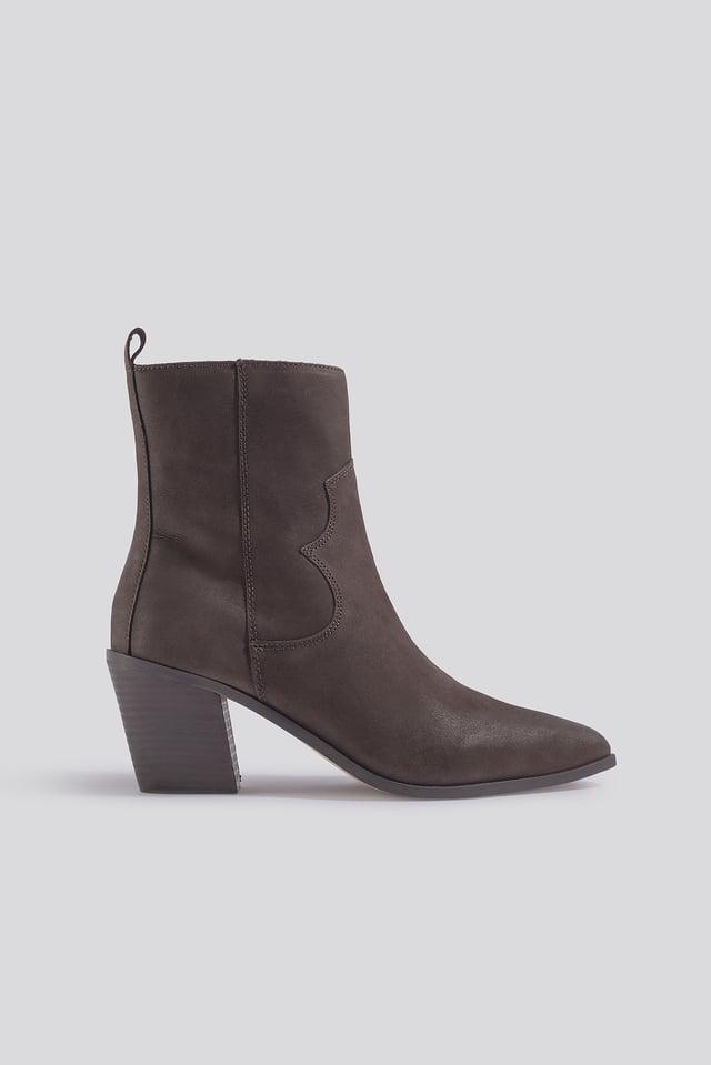 Ashton Ankle Boots Chocolate