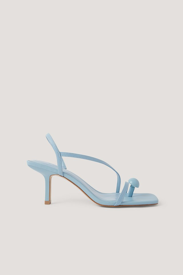 Sandales À Sangle Sky Blue