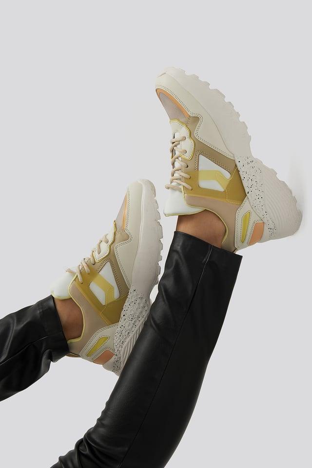 Pastel Yellow Damon Sport Shoe