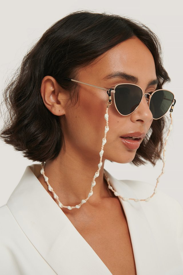 Collier Coquillage Perles Colorées White