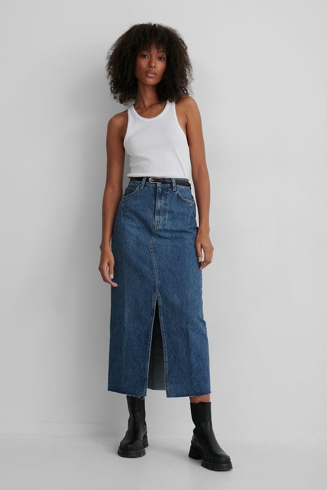 Blue Jupe En Jean