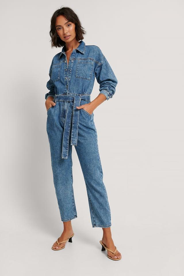Combinaison Pantalon En Jean Denim