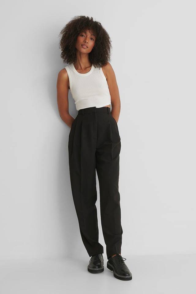 Pantalon Taille Haute Black