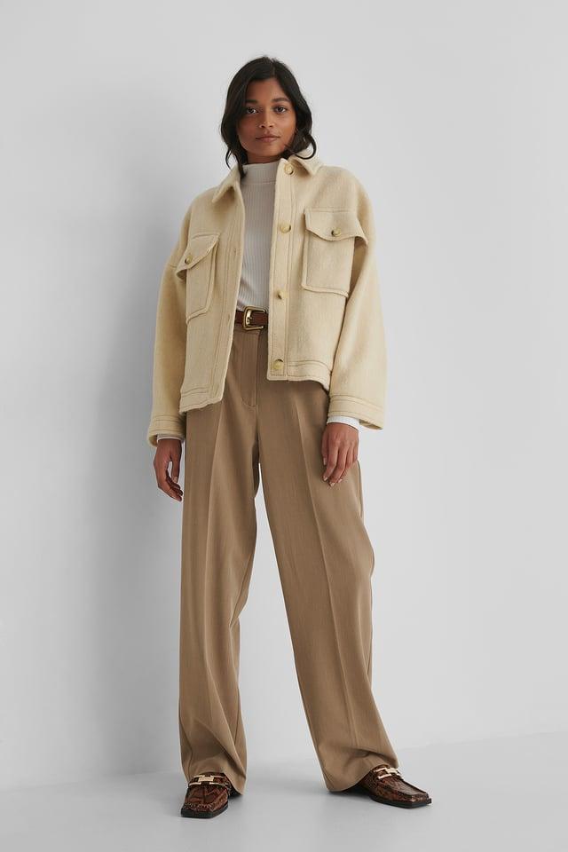Light Beige Jarabe Jacket