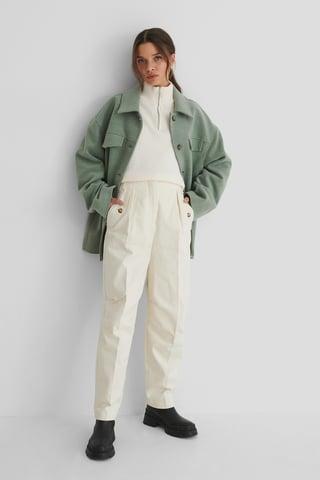 Light Beige Pantalon