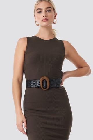 Black Oval Belt
