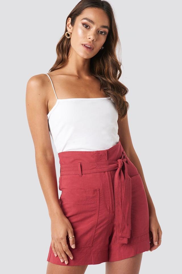 Pocket Shorts Red