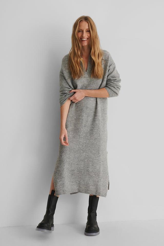 Robe Tricotée Grey
