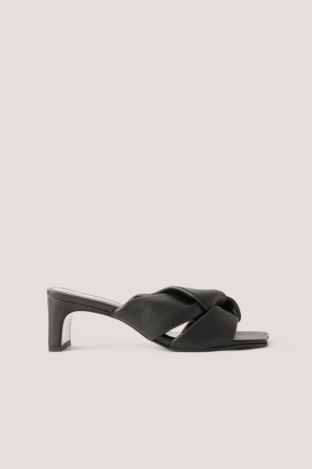Sandales À Rosette Black