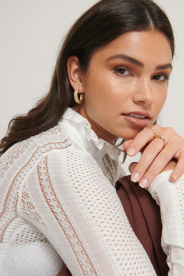 Haut En Crochet Léger White