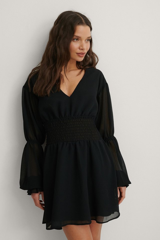 Black Recyclée Robe Mini