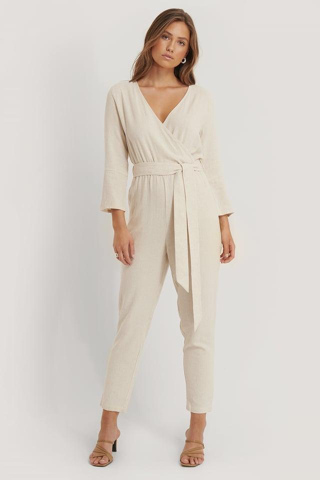 Combinaison Pantalon En Lin Sand
